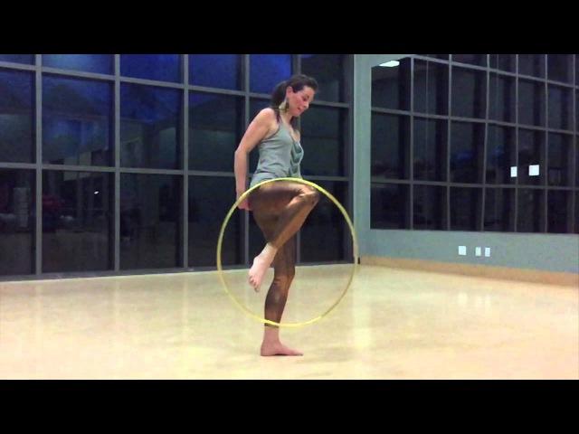 Hoopdance Tutorial Fabulous footstart into Wedgie Trick With Babz