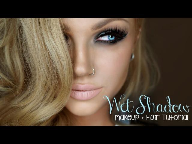 Wet Smokey Eye || Makeup Hair Tutorial || Jkissa Inspired!