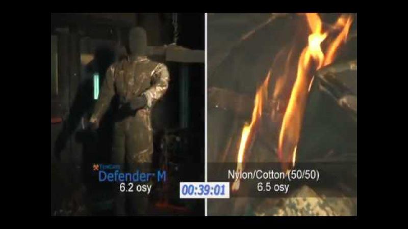 Тест огнеупорной ткани Defender
