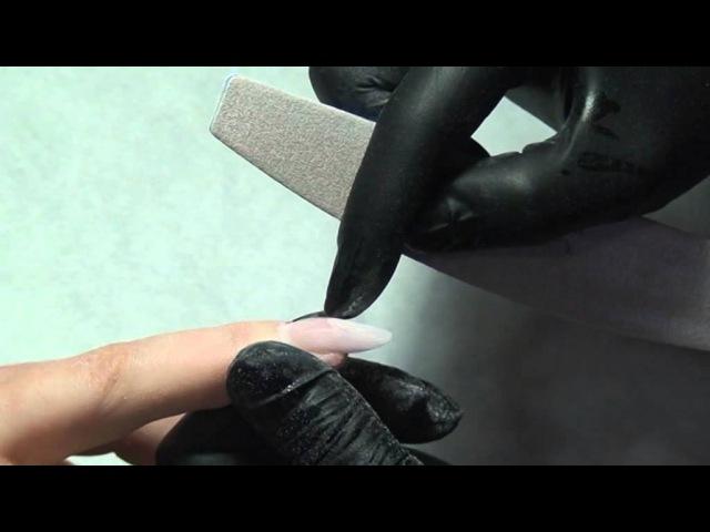 Форма ногтей миндаль: техника опила (гелевое моделирование) видео-урок Натальи Голох