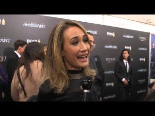 Allegiant New York Premiere Interview - Maggie Q - The Divergent Series