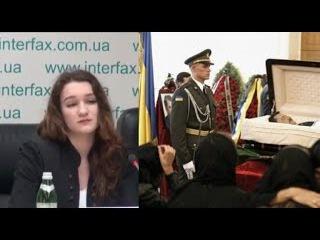 """Дочь убитого военного к Порошенко: """"Вы нелюдь и подонок!"""""""