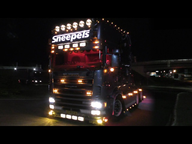 Truckshow Rüssel 2017 with Sneepels Scania Longline and more in 4K UHD