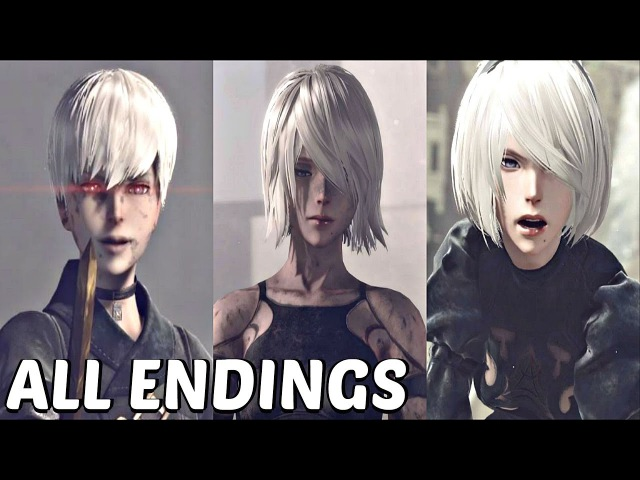 Nier Automata - All Main Endings True Ending (A, B, C, D, E)