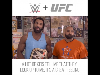 #My1 WWE Champ Jinder Mahal and UFC fighter Arjan S Bhullar, train together and take it to the mat.