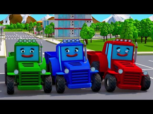 Fleißig Traktor hilft allen der Lastwagen für Kinder Trickfilm deutsch 20 MIN