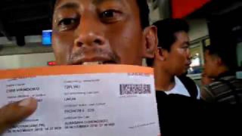 (M) Jogja 2016 TIKET di Stasiun Lempuyangan Yogyakarta Cak Handoko Ludruk menuju Surabaya