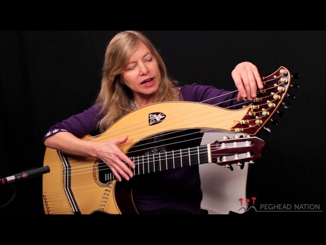 Muriel Anderson demonstrates her Doolin Harp Guitar for Peghead Nation
