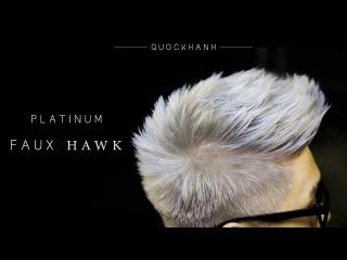 PLATINUM BLONDE HAIR I HAIR TRANSFORMATIONS I PLATINUM FAUXHAWK I Kiểu tóc bạch kim