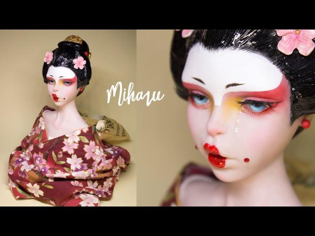'MIHARU' Geisha Polymer Clay Sculpture