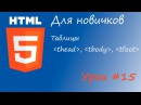 HTML курс для новичков - Урок 15 - Таблицы - thead, tbody, tfoot