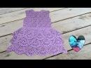 Vestido con volantes maravilloso tejido a crochet paso a paso DIY parte 1/2
