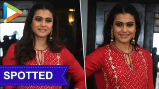 SPOTTED: Kajol during the promotions of Helicopter Eela