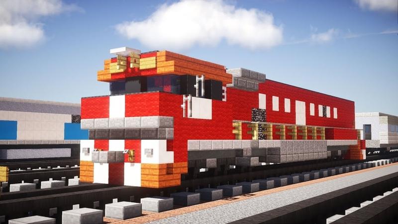 Minecraft The Ghan NR class Diesel Locomotive Tutorial