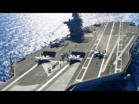 SUPERCARRIER USS Gerald R. Ford IN ACTION – Sea Trials FLIGHT DECK OPERATIONS!