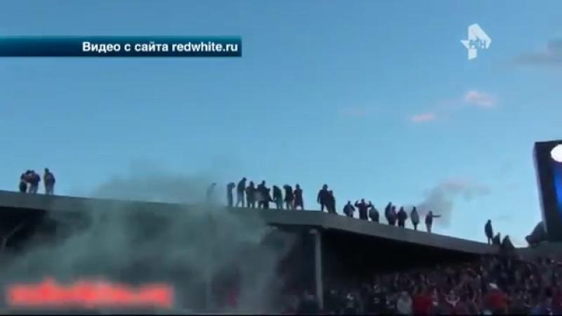 Футбольные болельщики устроили массовые беспорядки на стадионе в Туле