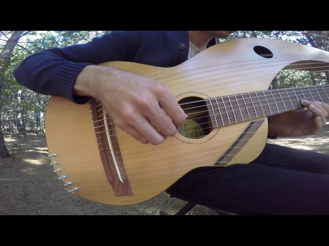 The Sound of Silence 18 String Harp Guitar Cover