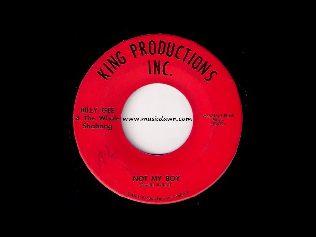 Billy Gee The Whole Shabang - Not My Boy [King Productions] Obscure Psych Rock 45