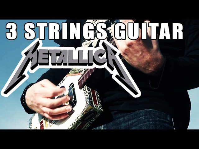 SAD BUT TRUE METALLICA COVER CIGAR BOX AND GUITALELE BY JEROME GRAILLE
