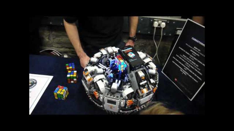 Lego Mindstorms Rubik's (Rubix) Cube Cubestormer 2 Solving Machine, Great Western Show GWLS 2012
