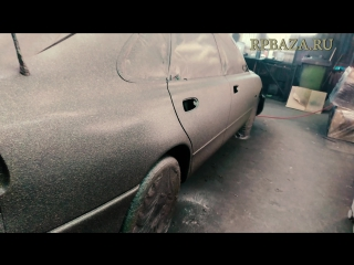 Mazda 626 покраска авто в сверхпрочное покрытие ТИТАН Rubber paint