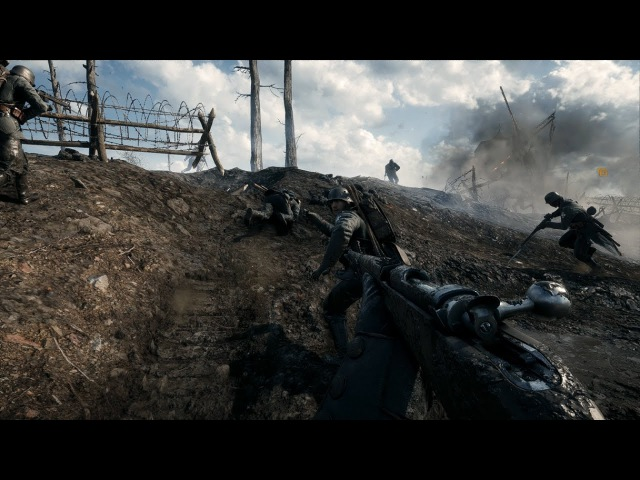 German Trench Assault No Hud Immersion Battlefield 1