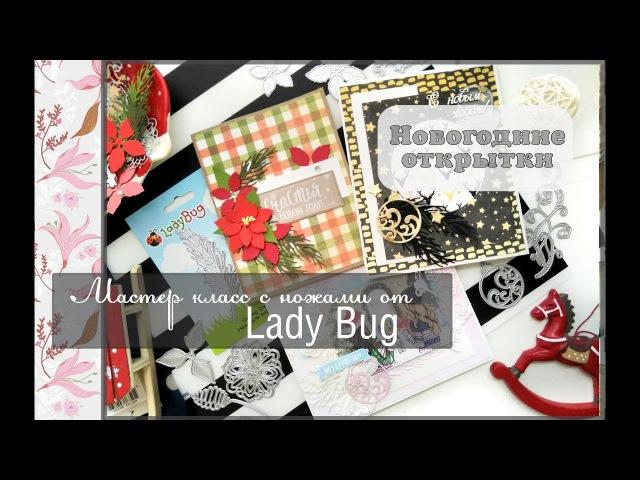 Обзор ножей от Lady Bug мастер класс новогодние открытки скрапбукинг