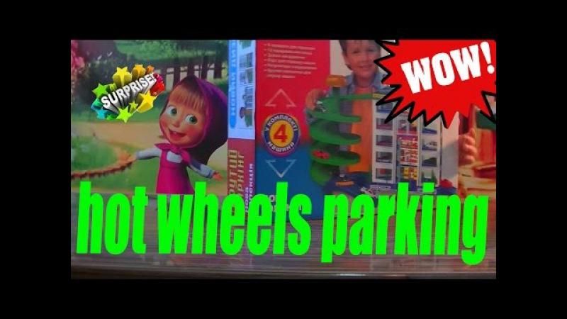 шести этажная парковка с лифтом для машинок хот виллс the biggest six storey car park for hot Wills