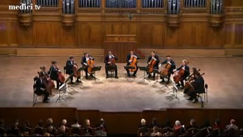 Fauré's ultimate work, the Pavane, performed by 12 cellists
