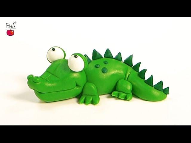 CROCODILE krokodyl easy polymer clay tutorial z modeliny