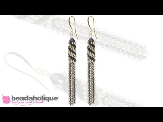 How to Make Tubular Peyote Stitch Tassel Earrings