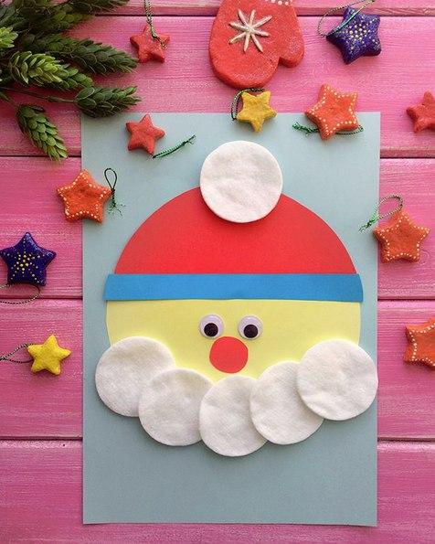 НОВОГОДНИЕ ПОДЕЛКИ ДЛЯ ДЕТЕЙ. То ли гномик, то ли Дед Мороз Для изготовления этой новогодней поделки вам понадобятся:- цветная бумага;- клей-карандаш;- ватные спонжи;- глазки ( приклеить на