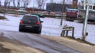 Весенний разлив Москвы-реки в Бронницах