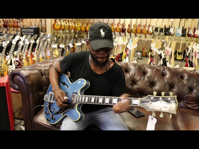 Erick Walls playing our early 70's Gibson ES 355 Refinished in Pelham Blue