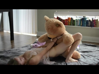Amateur masturbating with teddybear beautiful babes