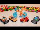 КИНДЕР сюрприз машинка гонка техника YouTube Kids видео для детей