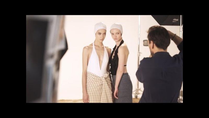 Бэкстейдж студийной съёмки обложки для журнала Marie Claire