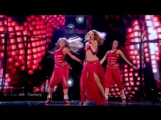 Hadise - Dum Tek Tek (Turkey) Live 2009 Eurovision Song Contest