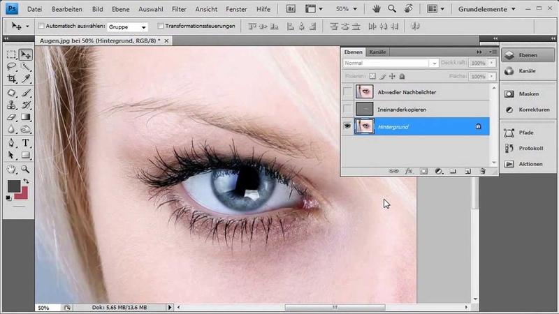 Die Augen strahlen lassen - Die Photoshop-Profis - Folge 7