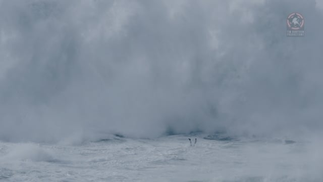 Jacare Thiago near drowning NAZARE - Music by Hecq