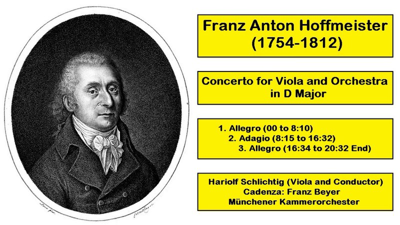 Franz Anton Hoffmeister (1754-1812) - Concerto for Viola and Orchestra in D Major