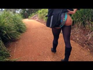 Sесrеtсrush relaxing sunday walk [amateur, busty teen, solo, masturbation, dildo, public, flashing, pissing]