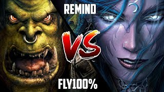 WC3: Fly100% (Orc) vs. ReMinD (Night Elf) [BlizzCon 2010 G1] | Warcraft 3