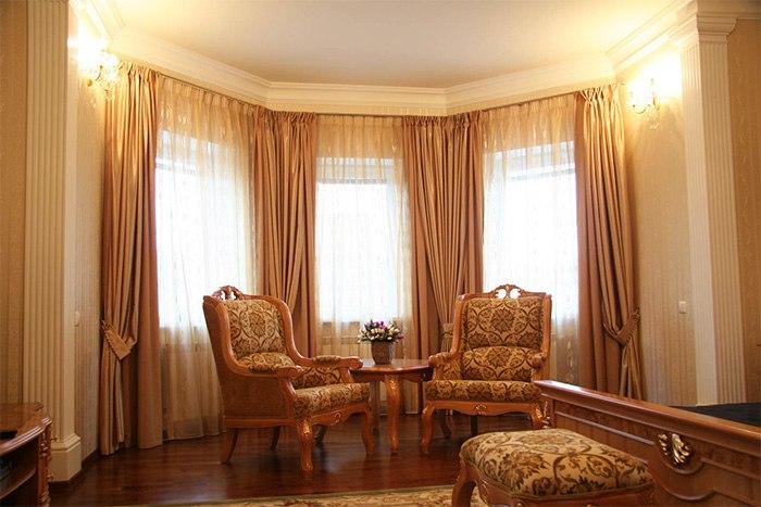 Потолочные шторы в зал — советы и рекомендации по выбору, изображение №15