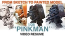 Kallamity 1 35 PINKMAN from sketch to painted model