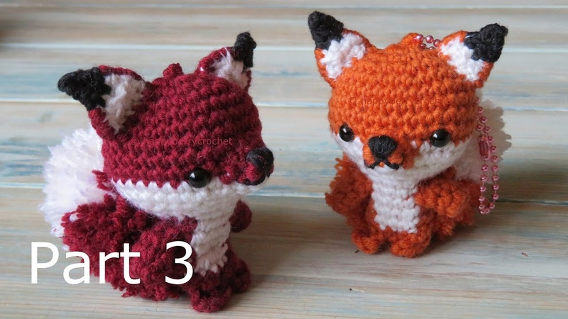 Amigurumi Fox Keyring How to Crochet Part 3