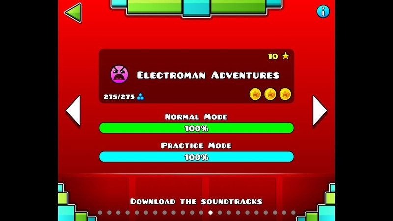Electroman adventures (100%) All coins geometry dash