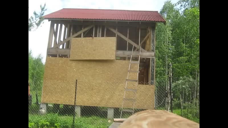 Как смонтировать ОСП (OSB) без лесов на каркасный дом