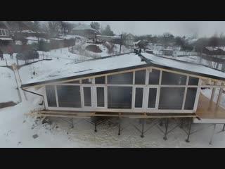Шале фахверк проект современного каркасного дома на склоне