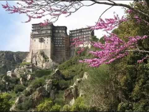 Σιμωνόπετρα Άγιον Όρος Αγνή Παρθένε Simonopetra Mount Athos Agni Parthene
